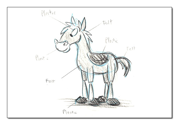 Toy Story Original Concept Art Concept Art Bullseye Toy